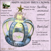 :GG: Happy Rezday Party Crown - Penguin art