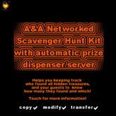 A&A Networked Scavenger/Treasure Hunt Kit (boxed) - full permission with automatic grand prize giver