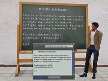 Notecard-Based Text Message Blackboard