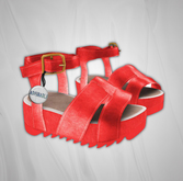 Admirable. Leather Platforms (Coral)