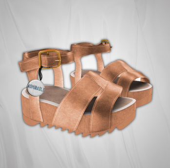 Admirable. Leather Platforms (Nude)