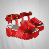 Admirable. Leather Platforms (Red)