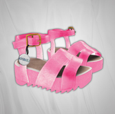 Admirable. Leather Platforms (Pink)