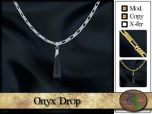 >^OeC^< Onyx Drop Necklace
