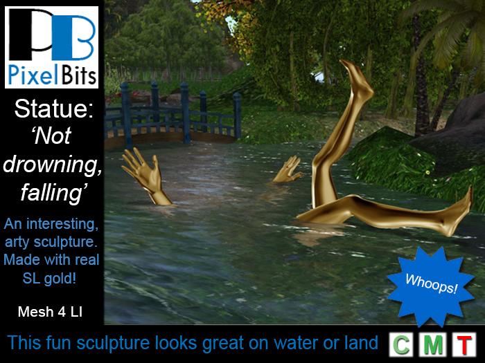 PB Sculpture / Statue: Not Drowning, Falling