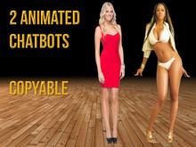 2 Beautiful animated chatbots