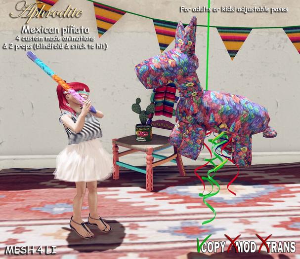 Aphrodite Mexican party piñata