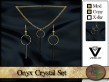 >^OeC^< Verus - Onyx Crystal Set (gold)