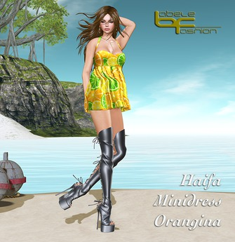 Babele Fashion :: Haifa Minidress Orangina