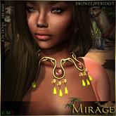 =Mirage= Sinbari Necklace - Bronze/Peridot