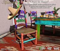 """Aphrodite Mexican """"5 de mayo"""" chair with sombrero giver"""