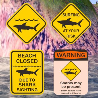 Free Shark Sign Collection