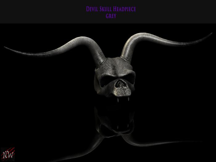! [NW] Skull Headpiece Grey