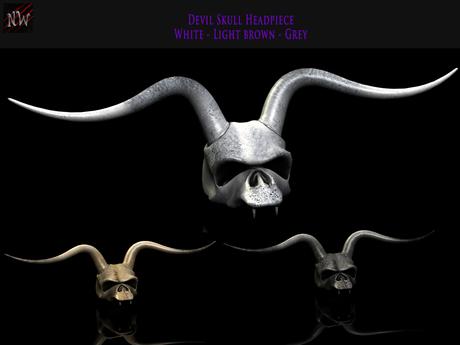 ! [NW] Skull Headpice Fat pack