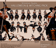 SEmotion Halloween & Witching Animations Pack (Broom included)