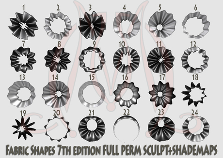 Fabric shapes 7th edition FULL PERM SCULPT SHADEMAPS