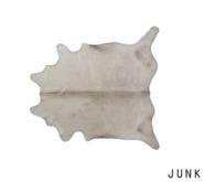 junk. cream animal rug.
