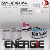 ..::Energie::.. Platform Flip Flops  Flower White Bag