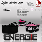 ..::Energie::.. Platform Flip Flops  Flower Black Bag