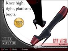 Knee high, tight platform boots (Fit Mesh!)