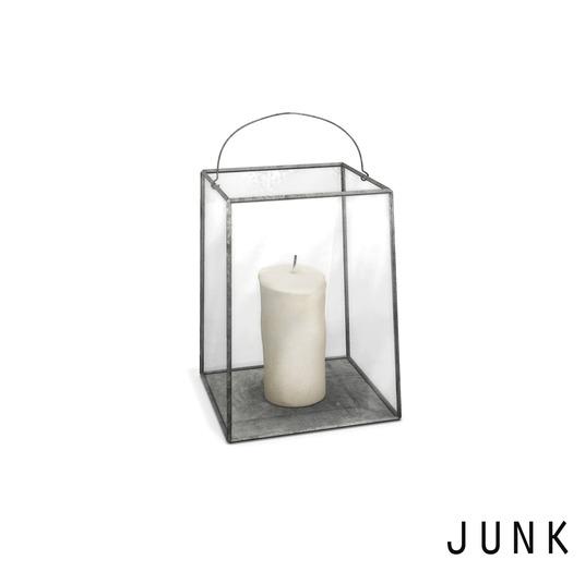 junk. small lantern. silver.