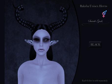 Suicide Gurls - Raksha Unisex Horns - Black