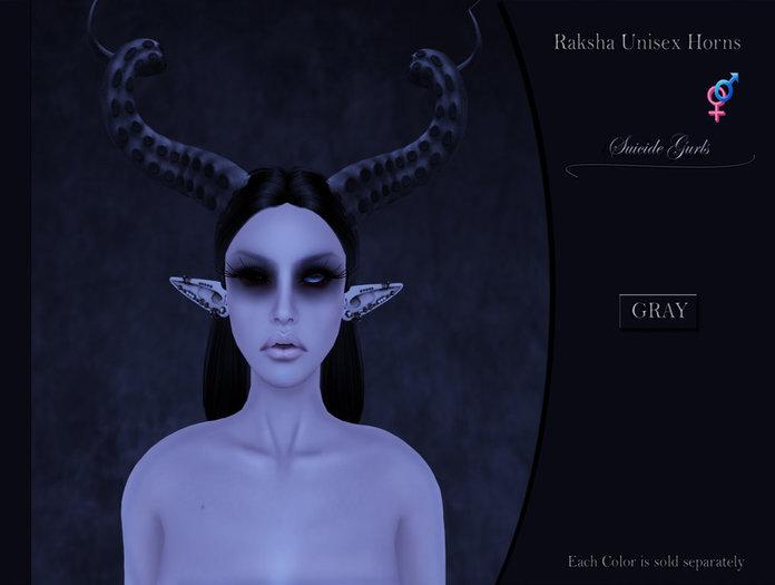 Suicide Gurls - Raksha Unisex Horns - Gray