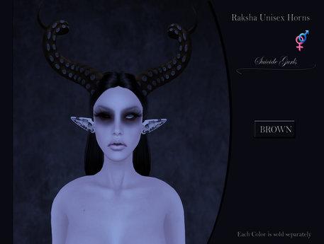 Suicide Gurls - Raksha Unisex Horns - Brown