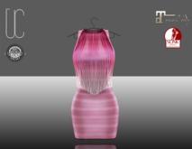 UC_Fringe_bandage_dress_pink_Slink_Maitreya_fitted