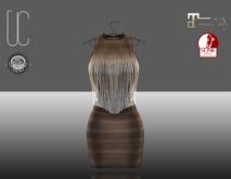 UC_Fringe_bandage_dress_brown_Slink_Maitreya_fitted