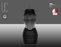 UC_Fringe_bandage_dress_black_Slink_Maitreya_fitted