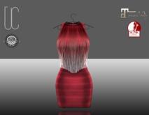 UC_Fringe_bandage_dress_red_Slink_Maitreya_fitted
