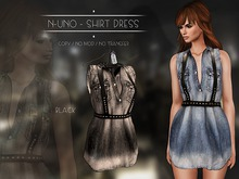 N-Uno - Shirt Dress - Denim Black FREE GIFT