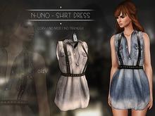 N-Uno - Shirt Dress - Denim Light FREE GIFT