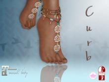 Curb! Boho Pearl Feet Jewelry Slink Av High & The Mesh Project Ouch!& Maitreya Lara Mesh Body