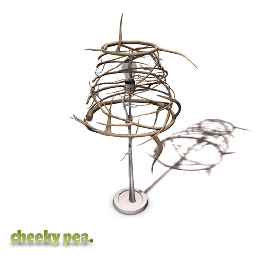 :CP: Heart on a Wire Branch Lamp