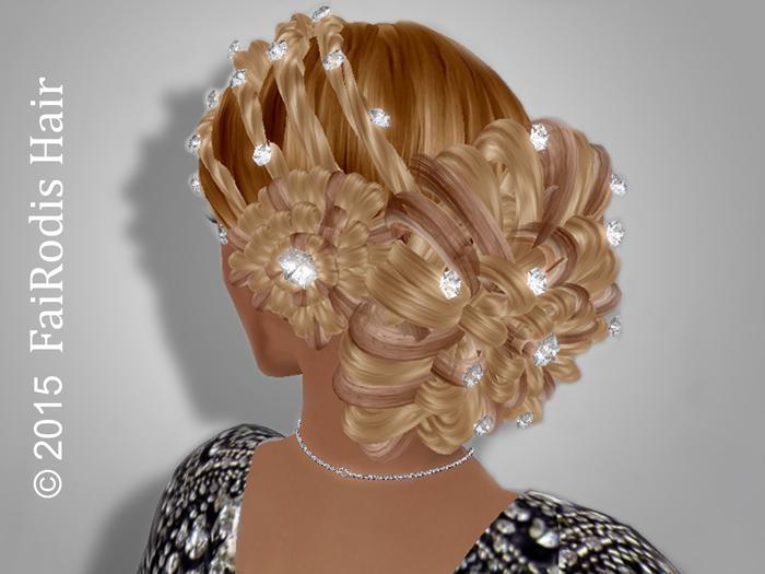 FaiRodis hair decoration for Dahlia without bangs hair