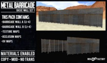 Win Factory Metal Barricade- Basic Wall Set 1