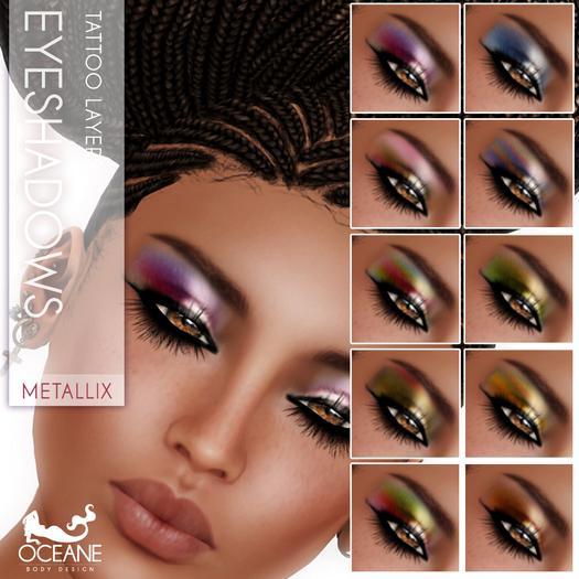 Oceane - Metallix Eyeshadows (10 x) Fat Pack