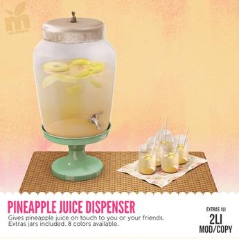 MishMish - Pineapple Juice Dispenser (CREAM) [Boxed]