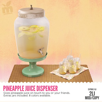 MishMish - Pineapple Juice Dispenser (PINK) [Boxed]