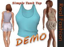 REAL FASHION Simple tank top - DEMO