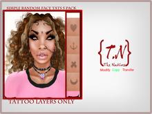 {TN} Simple Random Face Tats 5 Pack