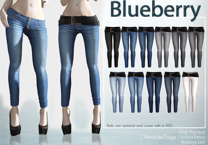 Blueberry - Rica - Maitreya / Slink / Belleza - Fat Pack