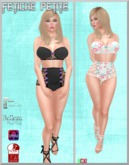 .::f  tiche petite::.Cute Lace Set black and white(Appliers inc