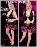 .::f  tiche petite::. Mesh Punk Outfit/zebra pink