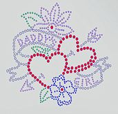 {ACD} Daddy's Girl Bedazzled Wall Decal