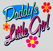 {ACD} Daddy's Little Girl Retro Wall Decal