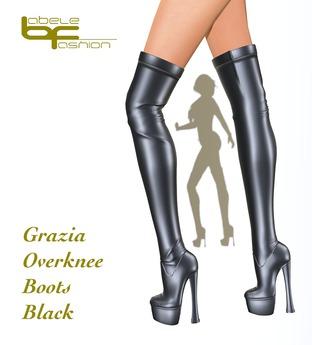 Babele Fashion :: Grazia Overknee Boots Black