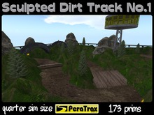 "1/4 SIM Skybox Raceway ""Sculpted Dirt Track"" - QUARTER SIM Race Track - sculpted racetrack - easy setup - offroad racing"